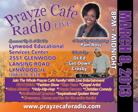 UPCOMING PRAYZE CAFE RADIO JAM 2013!
