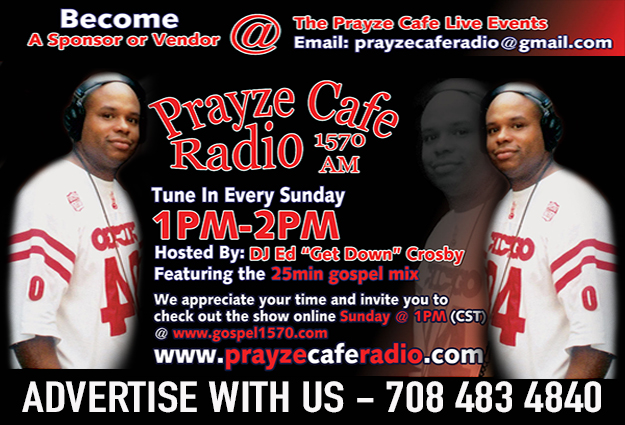 PRAYZE CAFE RADIO LIVE BROADCAST NETWORK @ PRAYZE CAFE RADIO LIVE BROADCAST